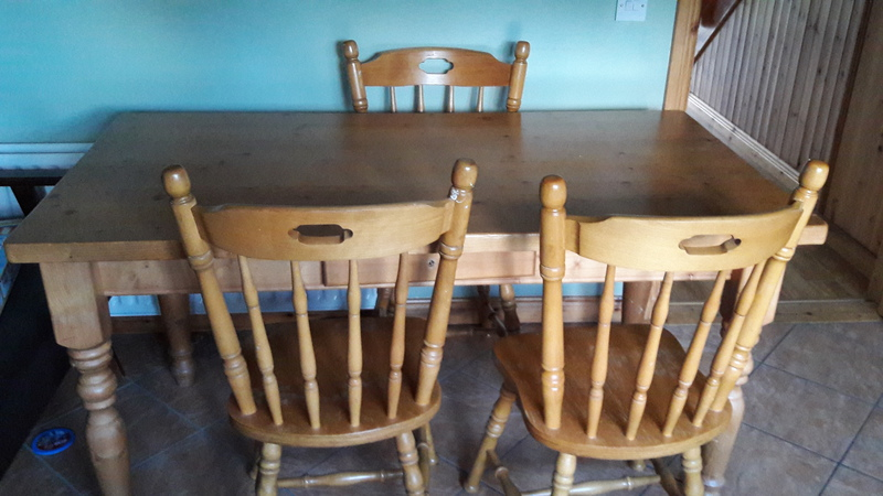 kitchen table and 4 chairs for sale donegal furniture for sale donegal 2292362. Black Bedroom Furniture Sets. Home Design Ideas